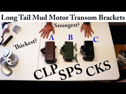 Transom Bracket Comparison For Thai Long Tail Mud Motor Kits