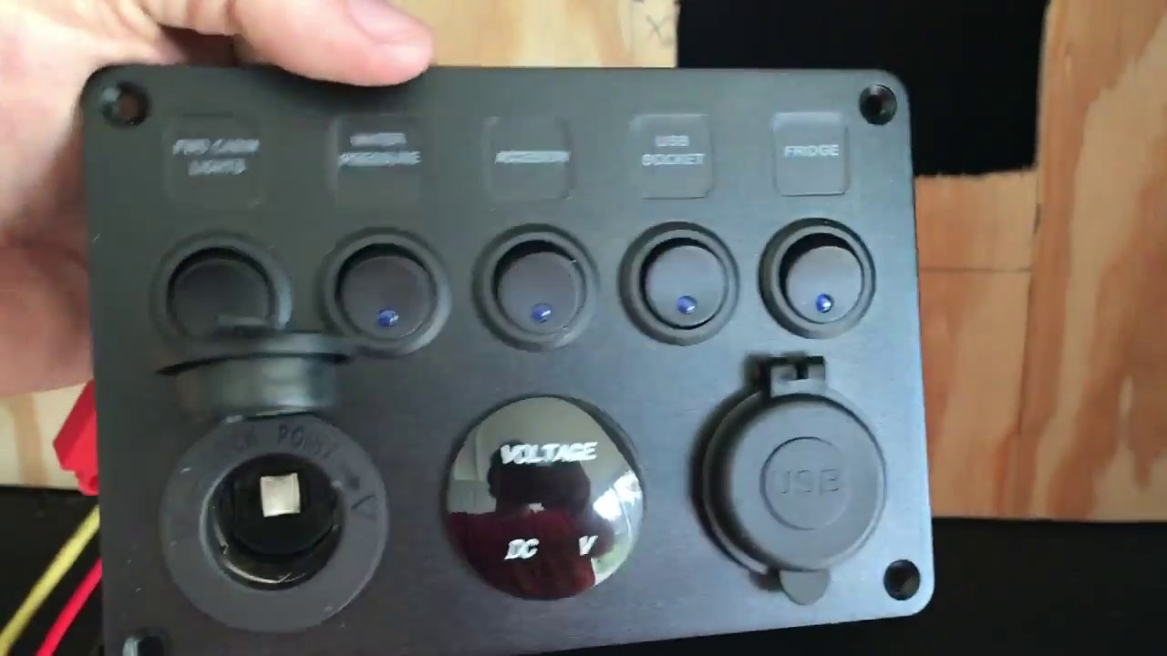 Installing switch panel part 1 - YouTube