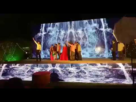 Reception Water Falls LED stage Backdrop For Wedding ,Marriage ,Birthday &  Corporate Eve