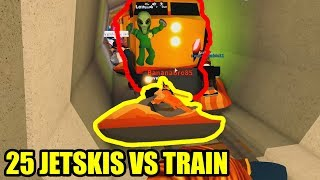 STOPPING THE TRAIN with JETSKIS??? [ULTIMATE JETSKI RACE] | Roblox Jailbreak