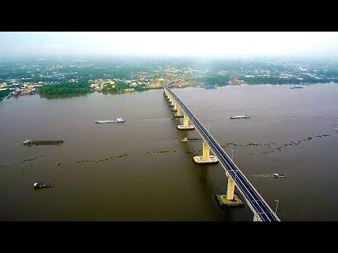 0735 Cầu Mỹ Lợi góc nhìn Flycam l Xiaomi Mi Drone 4K