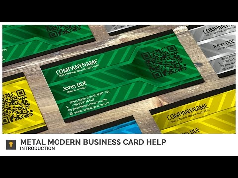 Metal Modern Business Card Help - Introduction