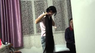 Chinese long hair cut