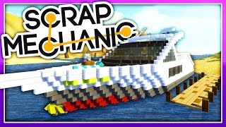 Scrap Mechanic Creations :: WATER WITH BOATS!?! :: Let's Play Scrap Mechanic