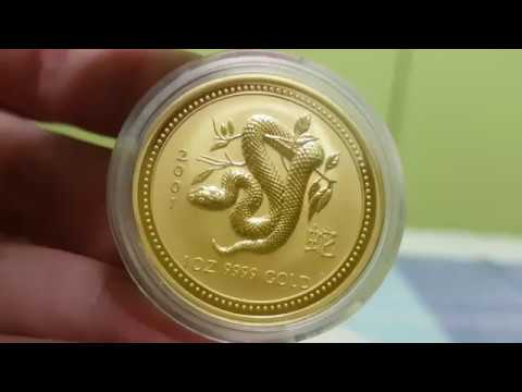 Australian Gold perth mint australia lunar year of the SNAKE 2001 bullion coin Review HOT!!!!