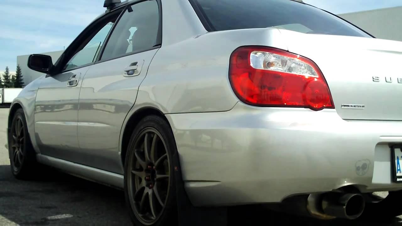 2005 subaru impreza 2.5rs exhaust - youtube