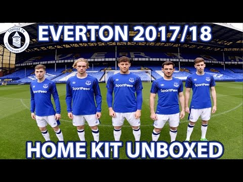 Everton 2017/18 Home Kit Unboxed