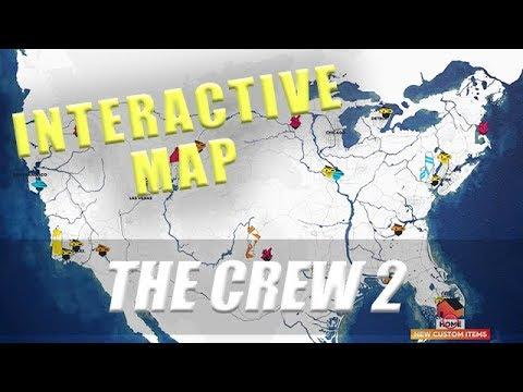 Mapa The Crew 2.The Crew 2 Interactive Map