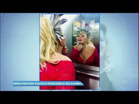 Hora da Venenosa: após 27 anos fora do carnaval, Vera Fischer volta a desfilar