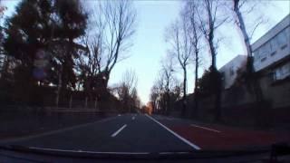 (HD) Morning drive in Tokyo 07 -早朝の神宮外苑周辺ドライブ-