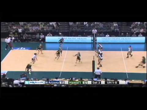 Rainbow Wahine Volleyball 2014 - Hawaii Vs Northern Arizona