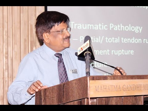 Dr Bipin R Shah Sharing knowledge about Ultrasound in Arthritis at MGM Medical College, Aurangabad