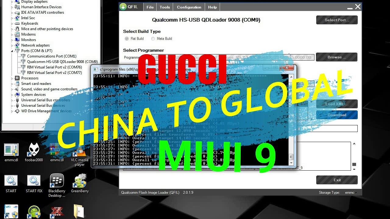 Xiaomi 2014910 | Gucci | China To Global rom Using QPST