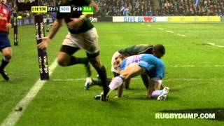 Poor officiating from TMO after Habana stops Scotland try