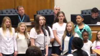Choir singing the climb