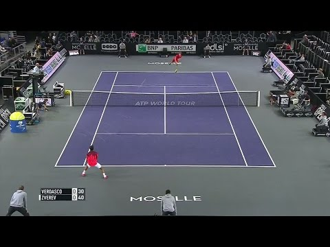 ATP250 Metz 2015 1R Verdasco - A. Zverev (Highlights) HD