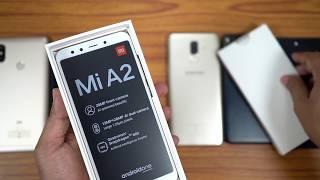 Xiaomi Mi A2 Unboxing & Preview (vs RN5Pro, Moto G6, RealMe 1, Galaxy J8, Mi A1)