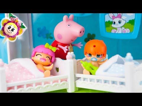 PEPPA PIG y la rutina de noche de los BEBÉS PIN Y PON ! Suben al ÁRBOL d Navidad y no quieren dormir