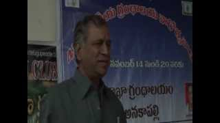 KOTHAPALLI BANGARA RAJU SPEACH ON TELUGU DRAMITICAL LITERATURE