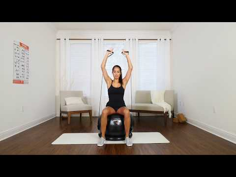 Exercise Ball With Resistance Bands & Stability Base