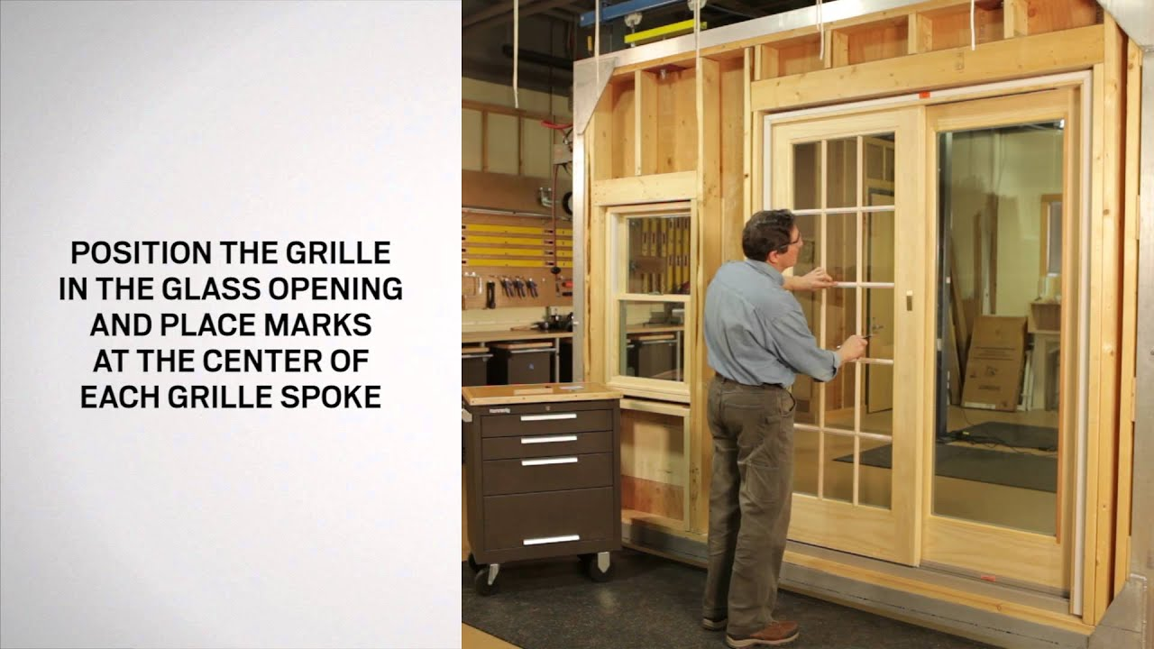 Applying Interior Grilles For 400 Amp 200 Series Patio Doors