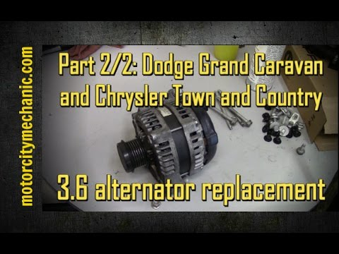 Part 2/2: Grand Caravan and Town and Country 3.6 liter alternator removal with shortcut