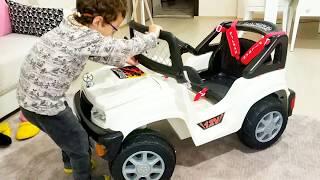 Yeni Arazi Canavarı Akülü Arabamız | New Off-Road Battery-Operated Car | Çocuk Oyunları Videoları