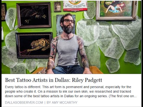 Best Tattoo Artist in Dallas - Riley Padgett - YouTube