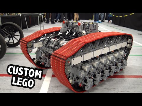 LEGO Technic Tracked Vehicle Powered By 48 Motors