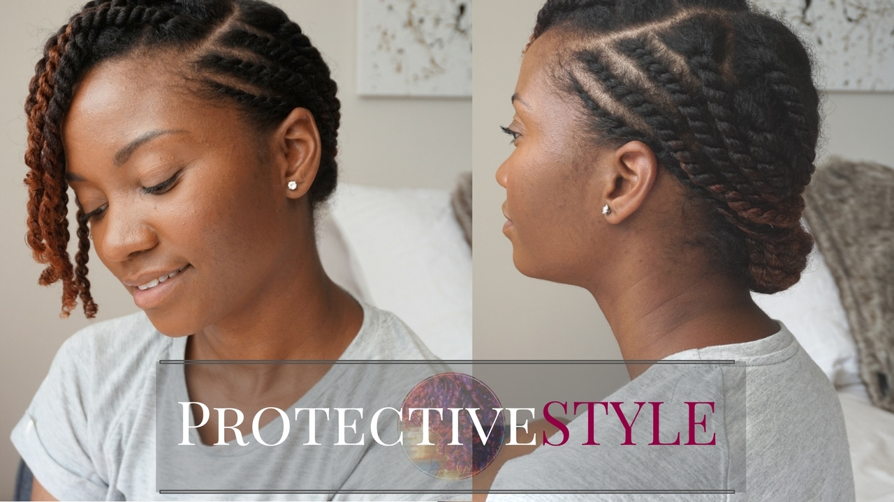 easy flat twist protective style