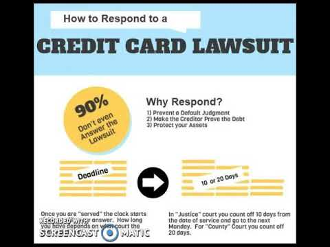 What To Do If You Are Sued For Credit Card Debt