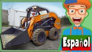 Gambar cover Carguero con Blippi Español | Camiones de Construcción para Niños | Cargadora Compacta