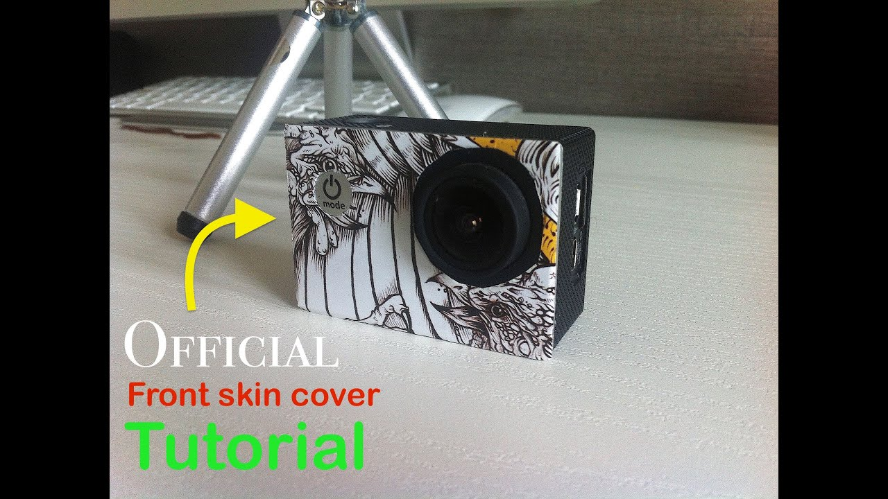 How to: Sjcam/Gopro front skin cover tutorial - Official - YouTube