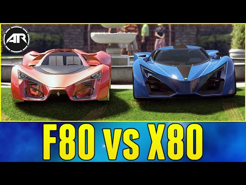 GROTTI X80 vs FERRARI F80!!! , GTA 5 PC Mods