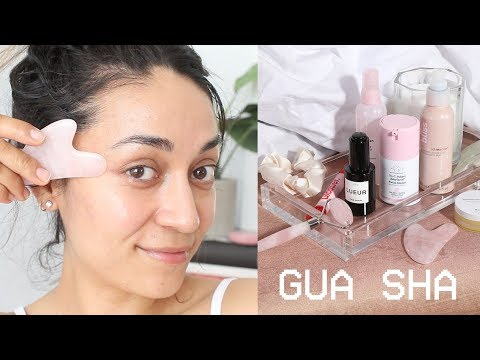 HOW TO Gua Sha || GLOWING SKIN W/Gua Sha Facial Massage  || IMLVH