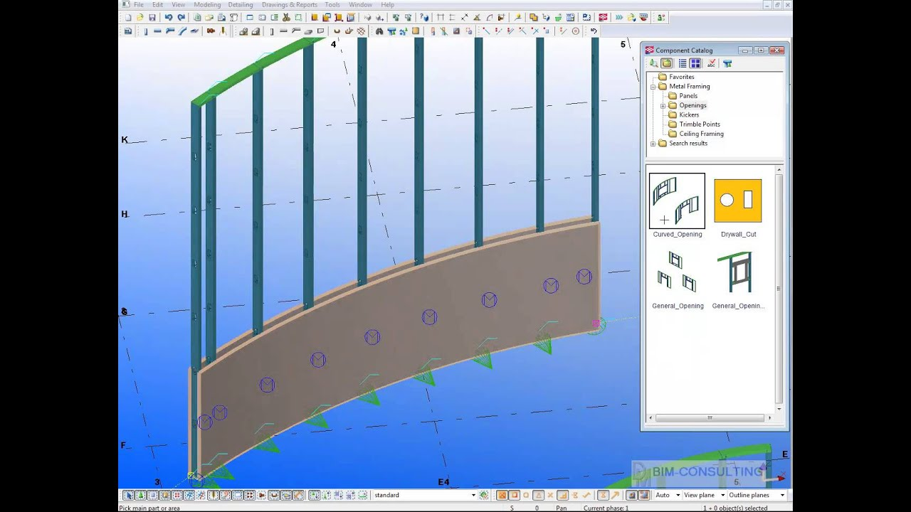 Metal framing Package for Tekla Structures - YouTube