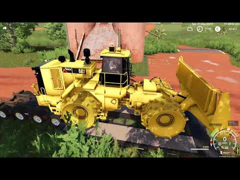 FS19 - Mining & Construction Economy - First test CAT 836K and Volvo 250H