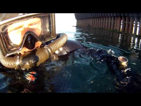 DA Aqualung Vintage Scuba dive in Lake Superior in Marquette MI