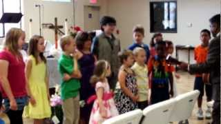 """Halleluiah, Shake Another Hand"" - KUMC Kids 3/31/13"