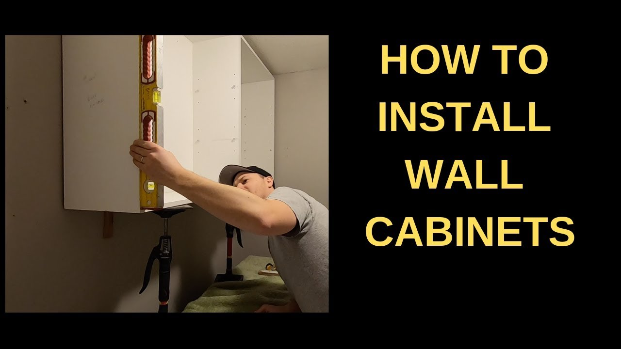 Install Wall Cabinets In A Laundry Room