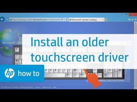 Installing an Older Touchscreen Driver from the Windows Update Catalog