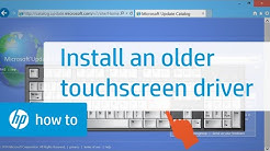 Installing an Older Touchscreen Driver from the Windows Update Catalog | HP Computers | HP