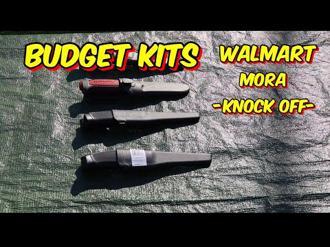 BUDGET SURVIVAL KIT GEAR!!... Mora -Knock Off- @ Walmart