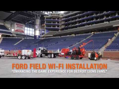 The Ditch Witch JT2020, JT9 and FX50 Tackle The Detroit Lions' Ford on