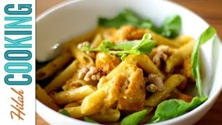 Pumpkin Penne Pasta | Vegetarian Pumpkin Recipe