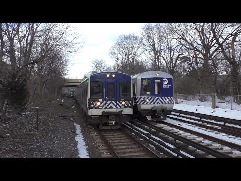 Metro-North Railroad HD 60fps: 8 Straight Minutes of Rush Hour Trains @ Botanical Gardens (3/20/17)