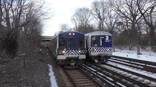Metro-North Railroad HD 60fps: 8 Straight Minutes of Rush Hour Trains @ Botanical Gardens (3/20/17)