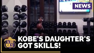 WATCH: Kobe Bryant Shows Off His Daughter's Basketball Skills