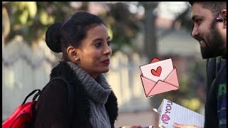 Giving Love Letter to Girls - Happy Valentines ...