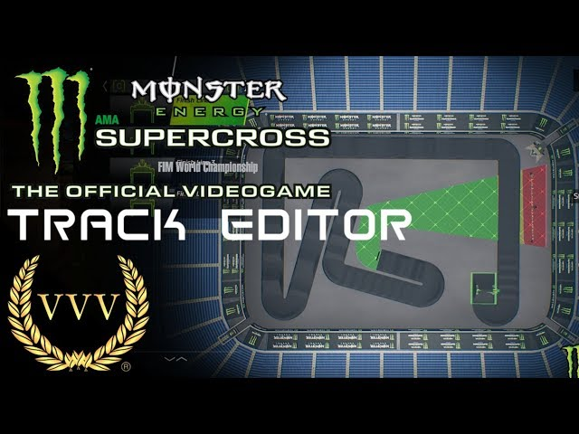 Monster Energy Supercross Track Editor Gameplay